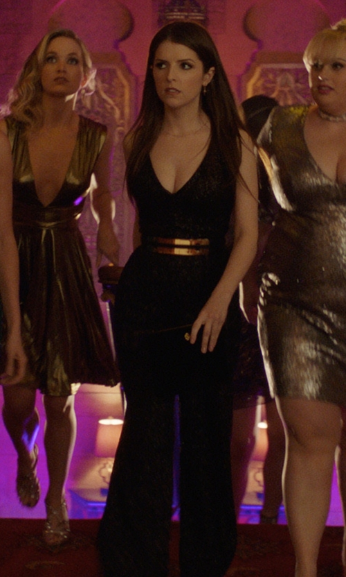 Anna Kendrick with Dress the Population Charlie Sequin Jumpsuit in Pitch Perfect 3