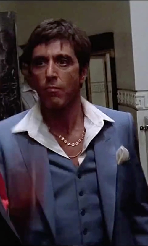 Al Pacino with Dolce & Gabbana Classic Three-Piece Suit in Scarface