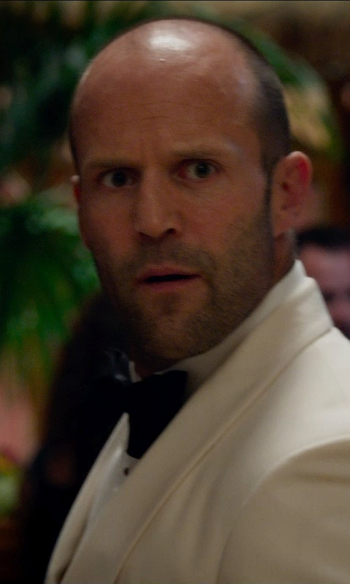 Jason Statham with Lanvin Classic Velvet Bow Tie in Spy