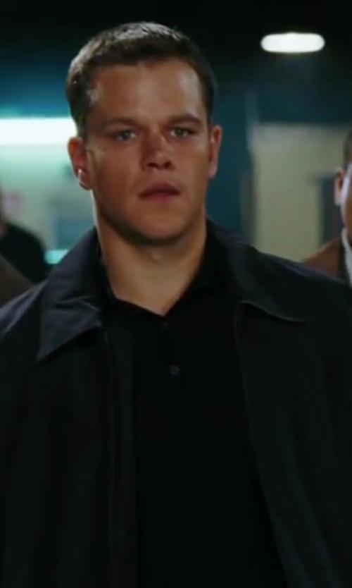 Matt Damon with Theory Nebulous Slub Henley Shirt in The Departed