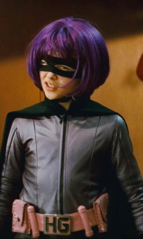 Chloë Grace Moretz with Sammy Sheldon (Costume Designer) Custom Made Hit Girl Suit in Kick-Ass