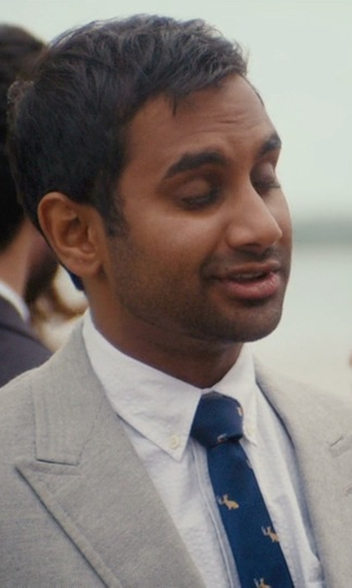 Aziz Ansari with Versace Collection Regular-Fit Woven Wool Suit in Master of None