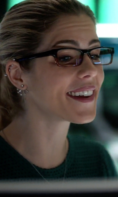 Emily Bett Rickards with Jastime 'Soho' Two Tone Eyeglasses in The Flash
