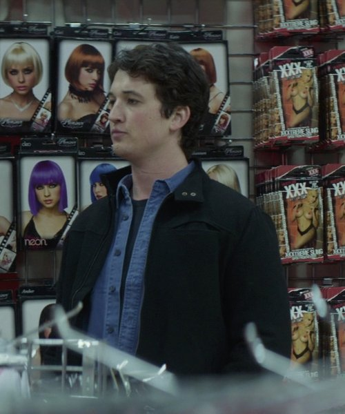 Miles Teller with Boglioli Slim-Fit Button-Down Collar Cotton Shirt in That Awkward Moment