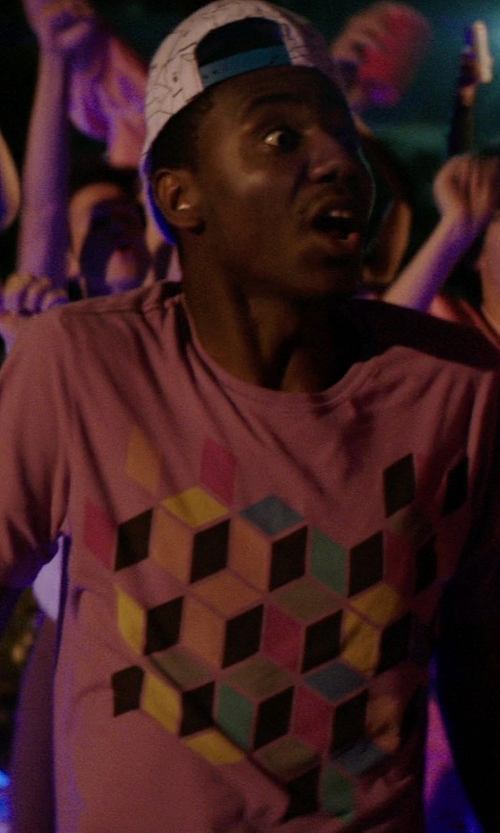 Jerrod Carmichael with Spread Shirt Vers 1 Sheldon Cube Shirt in Neighbors