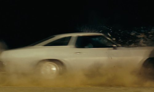 Ryan Gosling with Chevrolet 1972 Chevelle Malibu Car in Drive