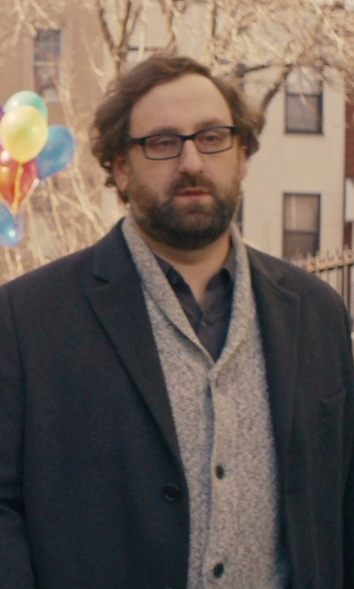 Eric Wareheim with Billy London Wool-Blend Overcoat in Master of None