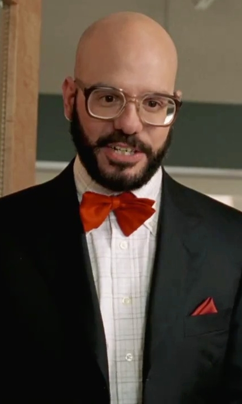 David Cross with Stacy Adams Solid Bow Tie in She's The Man
