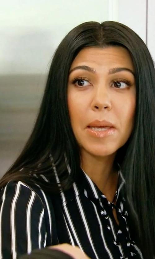 Kourtney Kardashian with Faithfull The Brand Stevie Tilbury Stripe Shirt in Keeping Up With The Kardashians