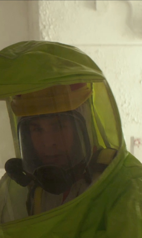 Chris Hemsworth with Tychem BR Hazmat Suit Chemical Protective Clothing in Blackhat