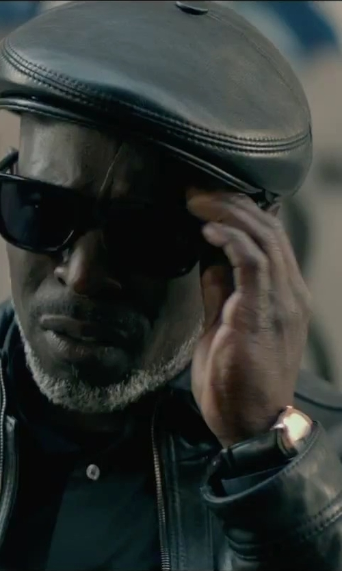 Michael Kenneth Williams with King Baby Sunglasses Solid Sunset Polarized Wayfarer Sunglasses in The Gambler