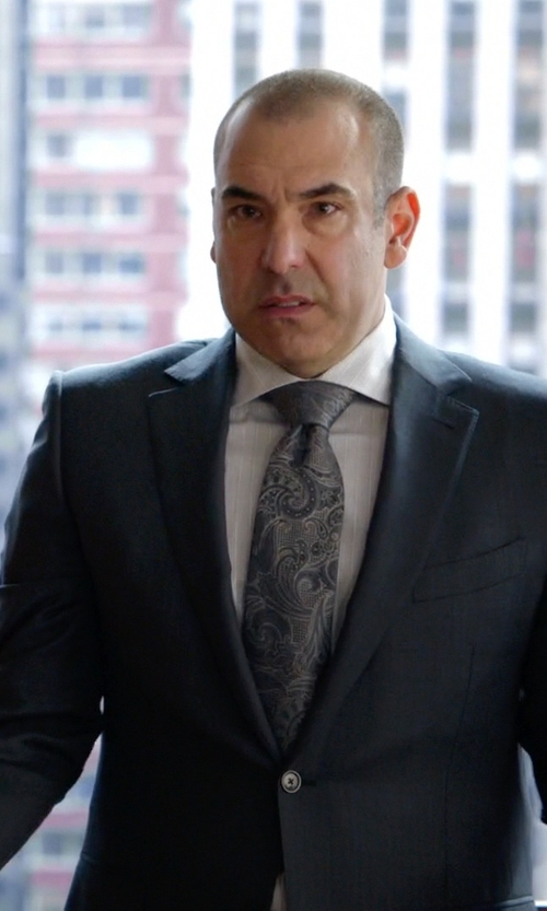 Rick Hoffman with Brioni Micro Stripe Wool Two-Button Suit in Suits