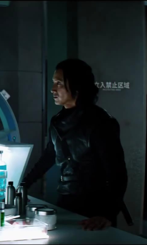 Will Yun Lee with Isis Mussenden (Costume Designer) Custom Made Ninja Suit (Harada) in The Wolverine