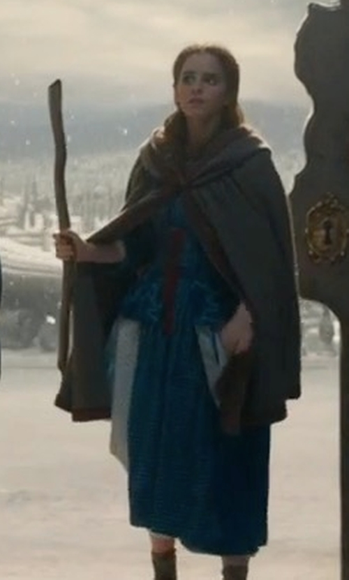 Emma Watson with Jacqueline Durran (Costume Designer) Custom Made Hooded Cape in Beauty and the Beast