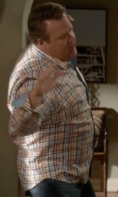 Eric Stonestreet with Bertigo Anel Plaid Shirt in Modern Family