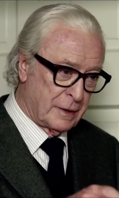 Michael Caine with Tom Ford Eyewear Square Optical Frames in Youth
