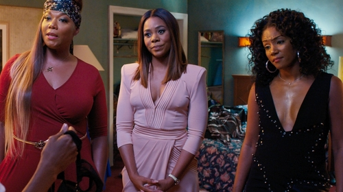 Regina Hall with Zhivago Eye of Horus Dress in Girls Trip