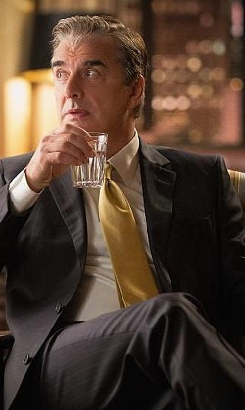 Chris Noth with Hugo Boss Two-Button Wool Blazer in The Good Wife