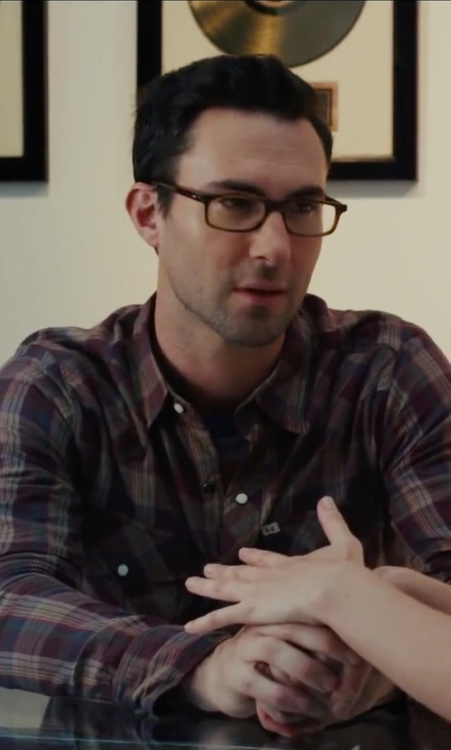 Adam Levine with VonZipper Ditch Day Rectangular Eyeglasses in Begin Again