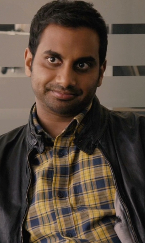 Aziz Ansari with Aspesi Plaid Button Down Shirt in Master of None
