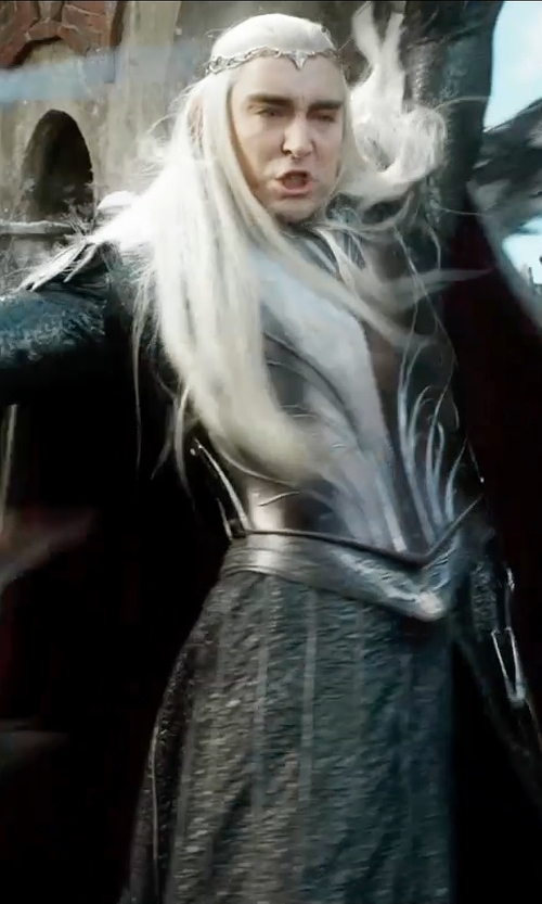 Lee Pace with Ann Maskrey & Bob Buck (Costume Designer) Custom Made Thranduil Costume in The Hobbit: The Battle of The Five Armies