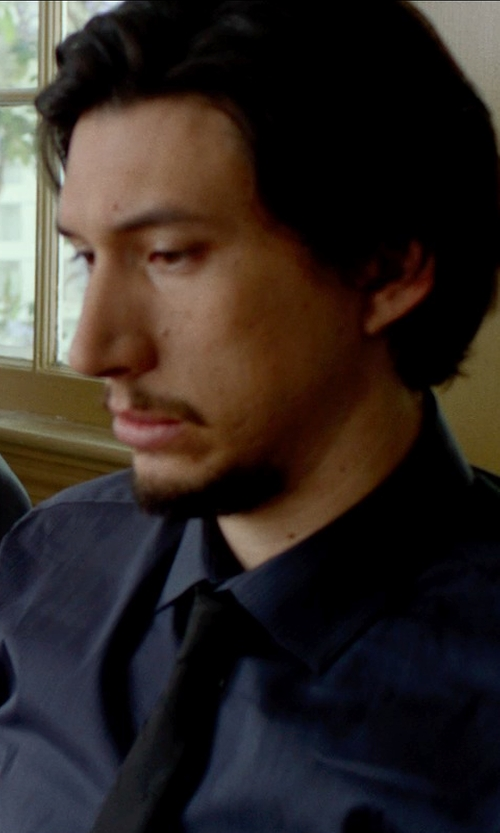 Adam Driver with BASCO Striped Dress Shirt in This Is Where I Leave You