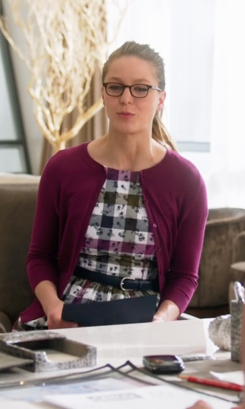 Melissa Benoist with Liu Jo Jeans Button Cardigan in Supergirl
