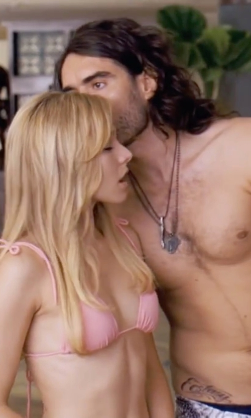 Russell Brand with Pyrrha Fox Talisman Pendant Necklace in Forgetting Sarah Marshall
