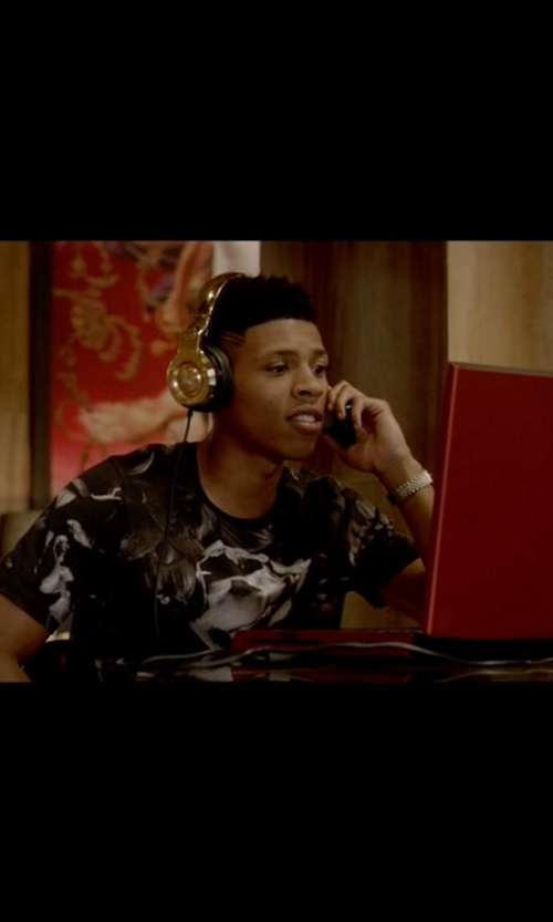 Bryshere Y. Gray with Dolce & Gabbana Floral Print T-Shirt in Empire