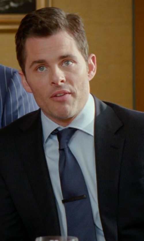 James Marsden with Thomas Pink Sedbergh Stripe Woven Tie in Unfinished Business