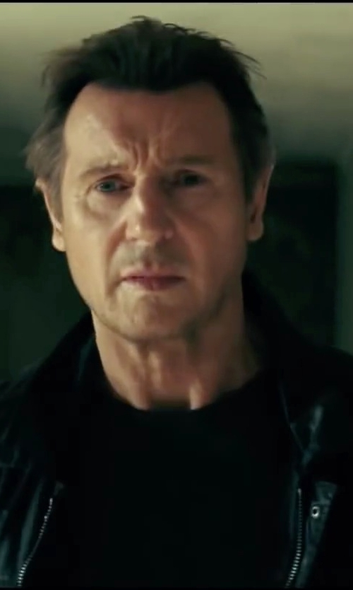 Liam Neeson with Silent Damir Doma Basic T-Shirt in Taken 3