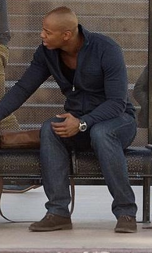 Mehcad Brooks with Woolrich Lane Chukka Boot in Supergirl