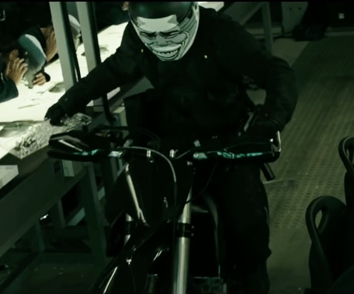 Unknown Actor with Kawasaki KLX 140 Motorcycle in Point Break