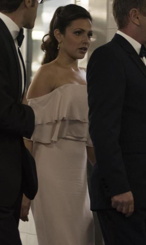 Italia Ricci with Show Me Your Mumu Hacienda Convertible Gown in Designated Survivor