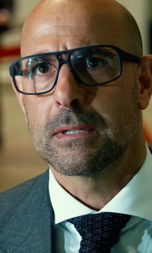 Stanley Tucci with Mykita Mylon Pantara Eyeglasses in Transformers: Age of Extinction
