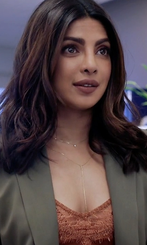 Priyanka Chopra with Theory Sedeia Contour Open-Front Blazer in Quantico