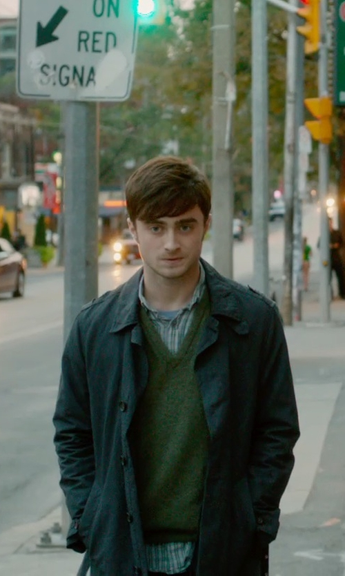 Daniel Radcliffe with Peuterey Rain Coat in What If