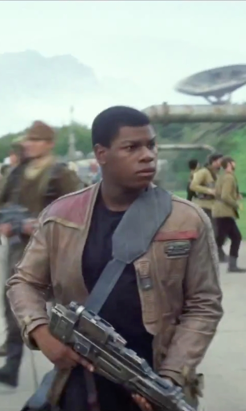 John Boyega with Matchless Mens Finn Jacket in Star Wars: The Force Awakens
