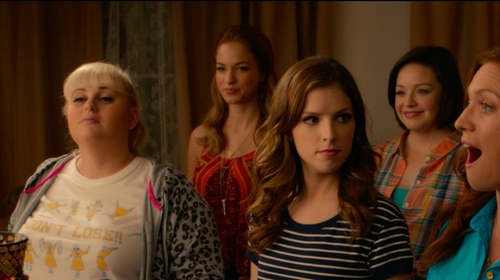 Alexis Knapp with Dogeared Balance Triangle Charm Necklace in Pitch Perfect 2