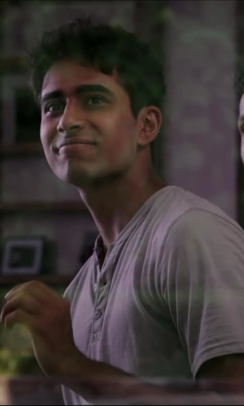 Suraj Sharma with Big Star Men's Brody Short Sleeve Henley in Million Dollar Arm