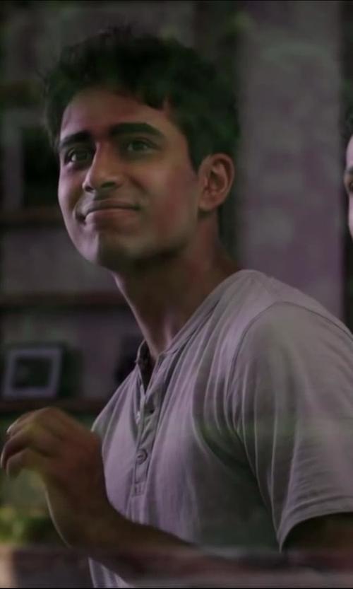 Suraj Sharma with Big Star Men's Brody Short Sleeve Henley in Million Dollar Arm
