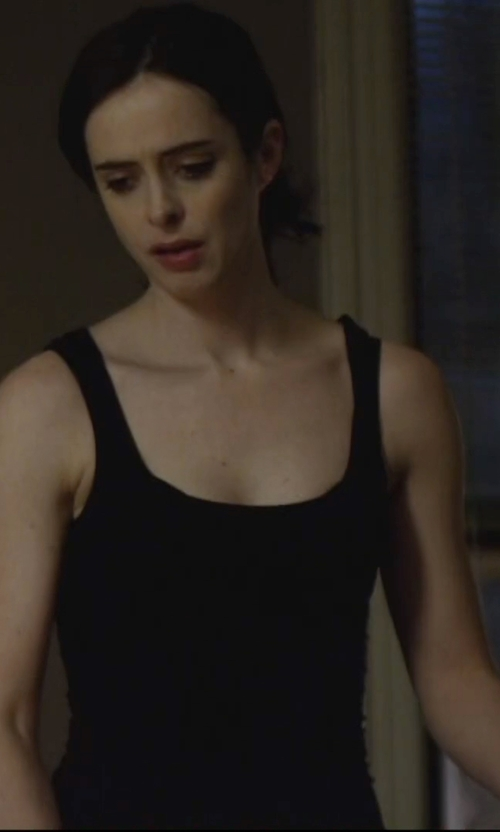 Krysten Ritter with James Perse Ribbed Daily Tank Top in Jessica Jones