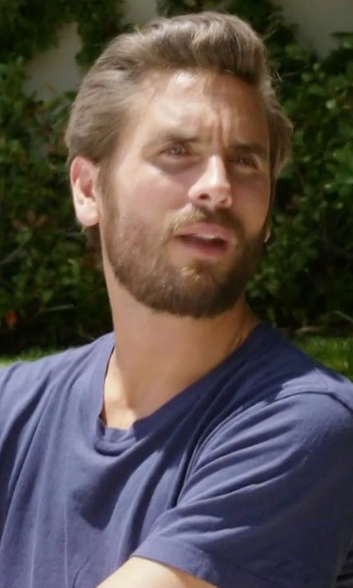 Scott Disick with John Elliott Classic Round Neck T-Shirt in Rob & Chyna