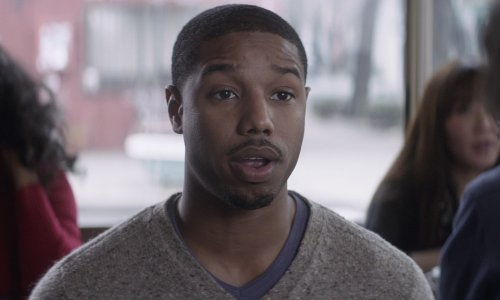 Michael B. Jordan with Lanvin V-Neck Sweater in That Awkward Moment