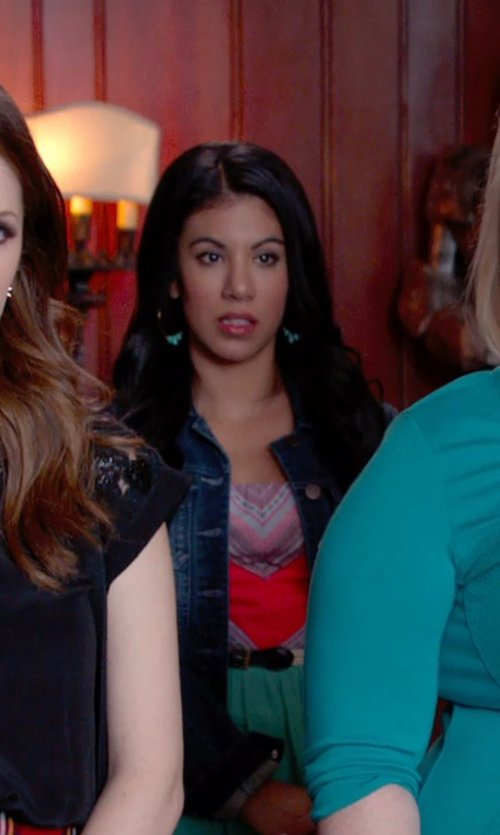 Chrissie Fit with Yochi Crystal Beaded Hoop Earrings in Pitch Perfect 2