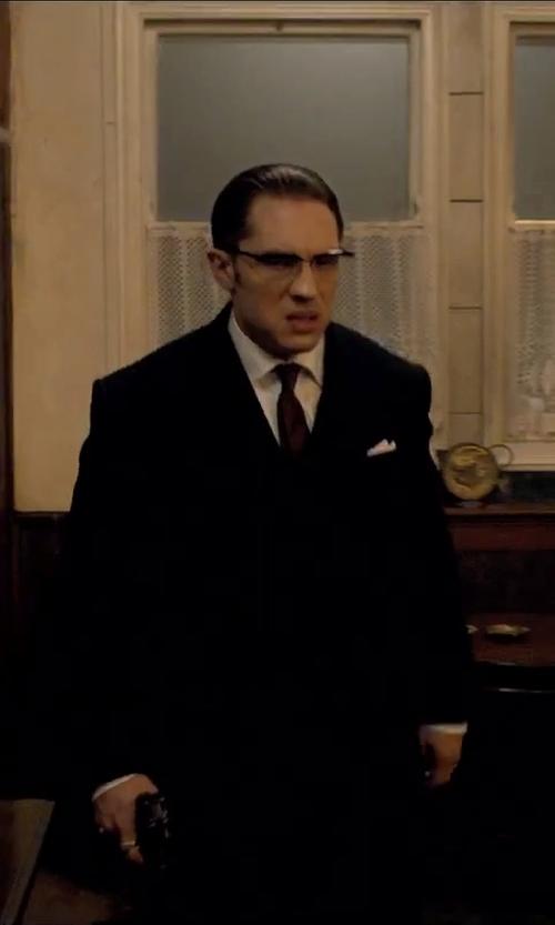 Tom Hardy with Armani Collezioni Twill Tie in Legend