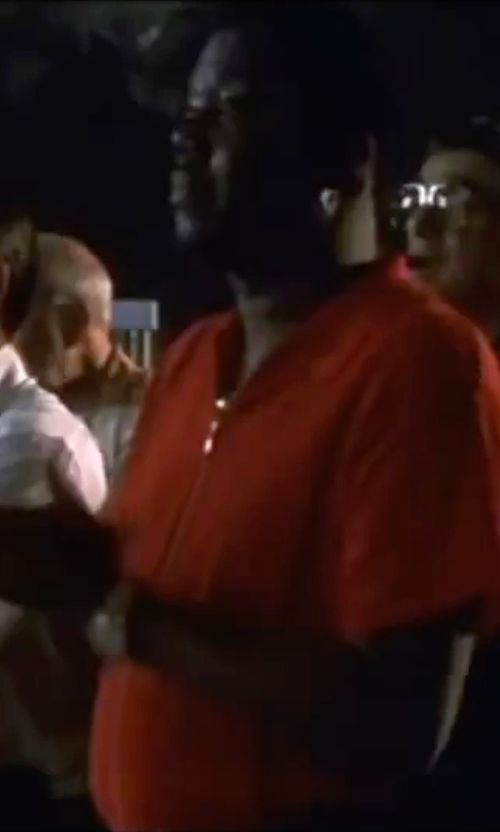 Bernie Mac with Bcpolo Zip Polo Shirt in Ocean's Eleven