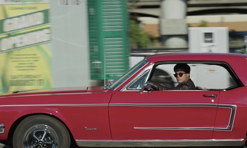 Christian Navarro with Ford 1968 Mustang Coupe in 13 Reasons Why