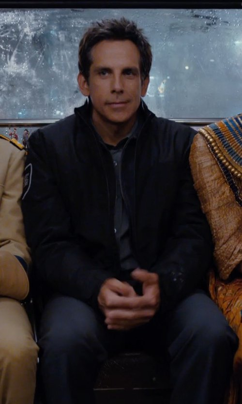 Ben Stiller with Cutter & Buck Roosevelt Water Resistant Full Zip Jacket in Night at the Museum: Secret of the Tomb