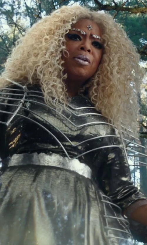 Oprah Winfrey with Paco Delgado (Costume Designer) Custom Made Black & White Gown in A Wrinkle In Time